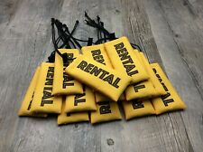 """15 """"rental"""" yellow barrel cover condom marker sleeve for paintball fields"""