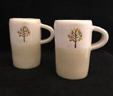 2 Starbucks 2009 4oz Demitasse Save a Tree Espresso Coffee Mug -FREE SHIPPING!
