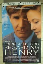 REGARDING HENRY~ Vintage 1991 ~HARRISON FORD, BENNING ~ ORIGINAL MOVIE POSTER