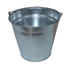 10L Verzinkter Eimer mit Tragegriff Zinkeimer Garteneimer Wasseimer Kübel Wasser
