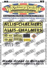 ALLIS CHALMERS ED40 NON DEPTHOMATIC DECALS SET