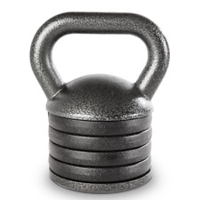 Apex Adjustable Kettle Bell 20 Lbs. Included Weight Swing Lift Workout APKB-5009