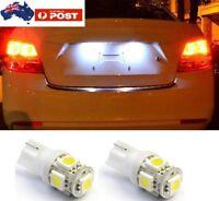 2 ** T10 Super White LED Number Plate Lights Fits Commodore  VS VT VX VY VZ VE