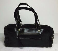 Accessorize Velour Bowler Bag Navy Blue Internal Pockets Purse Tote Handbag