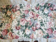 """Vtg / New King Size Pillow Sham """"Rose Park"""" Jc Penny Nice Large Floral Design"""
