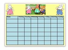Reusable -MAX AND RUBY - Reward Chart - Wipe clean - With pen