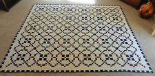 Large Antique Quilt Blanket Bed Spread 8 Ft. x 7 Ft.  Take a LOOK !!!!!!!!!