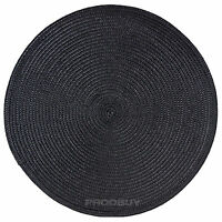 33cm Round Black Woven Fabric Placemats Place Mats Dining Room Table Setting