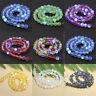 Holographic Matte Mystic Aura Quartz Gemstone Loose Beads DIY Bracelets Necklace