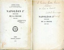 C1 NAPOLEON Lesage NAPOLEON CREANCIER DE LA PRUSSE Dedicace a Gaston MENIER