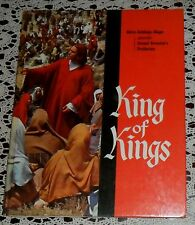 1961 KING OF KINGS ORIGINAL HARD COVER MGM SOUVENIR BOOK WITH ORIG 8X10 STILLS