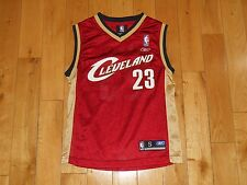 Reebok LEBRON JAMES Wine CLEVELAND CAVALIERS Youth NBA Team Replica JERSEY Sm 8