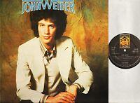 JOHN WEIDER self titled s/t same ANCL 2018 A1/B1 1st uk press 1976 LP EX/EX-