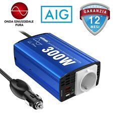 Inversor de Onda Sinusoidal Pura 300W DC 12V AC 220V 230V 240V con Dual USB