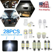 28x Car Interior LED Lights For Dome License Plate Lamp Auto Accessories Kit
