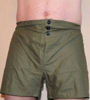 1950's British Army Boxer OD Shorts 3 button size 4 W 36 in-40 in lot of 4 E077