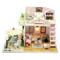 1:24 DIY Miniature Project Kit Wooden Dolls House Furniture Accessories UK L9H5