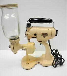 Vintage SUNBEAM MIX MASTER P20747 w/ RARE Coffee Grinder Attachment