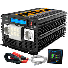 Inversor ONDA PURA 3500W 7000W 12V 220V Convertidor Transformador LCD Camping RV