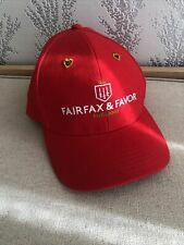 Fairfax and Favour THE VALENTINE HAT VALENTINES DAY RED BASEBALL CAP Hat