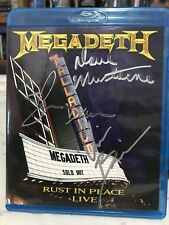 """Megadeth """"Rust in Peace Live"""" Bluray signed by all the band very rare"""