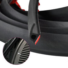4M Car Door Edge P Type Rubber Weatherstrip Noise Insulation Sealing Strip Trim