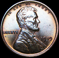 1919 Lincoln Cent Wheat Penny  ---- GEM BU++ Condition ---- #D228