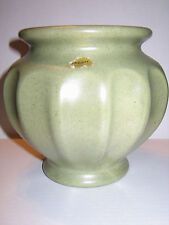 Vintage Haeger Green Speckle Ribbed Urn Planter