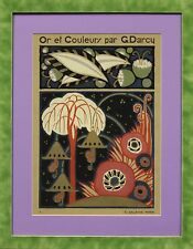 """Or et Couleurs"" par G Darcy Framed c1925 Pochoir"""