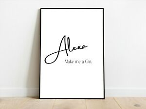 Alexa Gin Funny Kitchen Wall Print A3/A4/A5 Posters Gift Idea