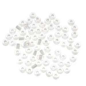 Czech Glass Seed Beads, 6/0 Round, 1 Ounce, Glow In The Dark Lined Crystal