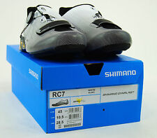 Shimano SH-RC7 Road Carbon Cycling Shoes,White, 45 / 10.5