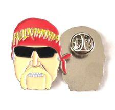 WWE, WWF WCW, Hulk Hogan Head Face Hasbro Enamel ECW Pin Badge Free Postage UK