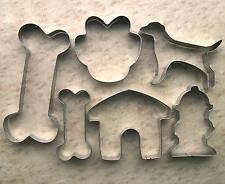 Dog Theme Cookie Cutters Paw Bone Hydrant Kennel Baking stainless steel Mold set