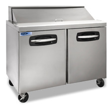 "Nor-Lake Nlsp48-12 AdvantEdge 48"" 2 Door Commercial Refrigerated Sandwich Prep T"