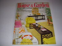 Vintage HOUSE & GARDEN Magazine, March, 1968, SPRING DECORATING ISSUE, FISH SOUP