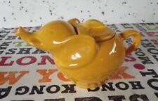 Ancienne Théière Porcelaine Éléphant Jaune Orange Rare vintage 1980 France