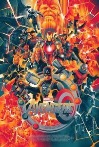 The Avengers FOIL Screen Print Poster Matt Ferguson Mondo Artist