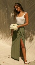 Pistola NWT My Squad Olive Long Button Maxi Skirt Size Small