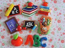 8 x Mixed ABC Apples Back to School Flatback Resin Embellishment Crafts UK