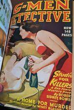 G-MEN DETECTIVE Jan.-Nov. 1948 Bound Volume Six Pulp Magazines RUDOLPH BELARSKI