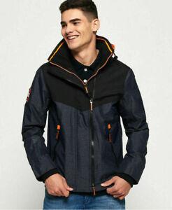 Superdry Mens Hooded Tech Axis Pop Zip Jacket