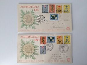 Netherlands 1960 FDC SUMMER STAMPS FLOWERS high catalog