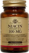 Solgar Niacin Vitamin B3 100mg 100 Tablets