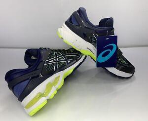 ASICS Men's Gel-Kayano 26 Running Shoes, Peacoat/Safety Yellow - Size: 8 M US