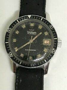 Waltham Divers wind up Watch, 17 jewels, A.S movement