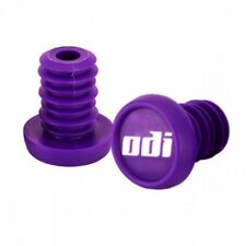 NYLON PURPLE ODI  BAR END PLUGS HANDLEBAR CAPS BMX SCOOTERS  PUSH IN NEW