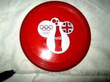 A Rare 2012 Coca Cola Commemorative 2012 London Olympics Red Plastic Frisbee
