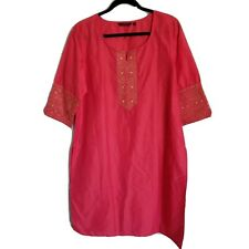 Srishti Coral Color Festive Party Kurta With Gold Embroidery XXL
