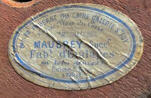 Ancien Porte Chapeau Napoleon III avec son etiquette d'origine MAUBREY PARIS